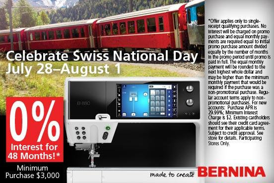 Swiss National Day 48 Month Financing